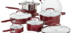 WearEver Ceramic Cookware Set, 15 Pieces, Nonstick Cookware Set, Red Review 2019