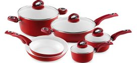 Bialetti Aeternum 10 Piece Nonstick Cookware Set, Ceramic Interior, Red Review 2019