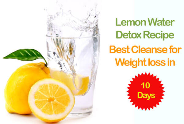 Lemon water detox recipe | Best cleanse for weight loss in 10 Days